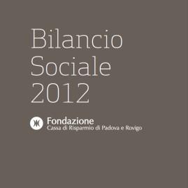 Bilancio Sociale 2012 Fondazione Cariparo